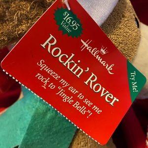 Hallmark Holiday - Hallmark Rockin' Rover Animated Xmas Plush Dog NWT